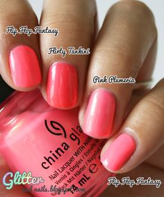 China Glaze pinks