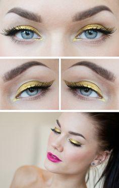 Makeup Geek Liquid Gold Pigment -- stunning! Linda Hallberg