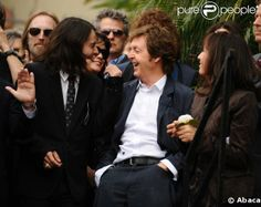 w/ Dhani again and also Olivia Harrison (who is super awesome, btw) at George's Hollywood walk of fame ceremony