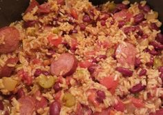 Super Easy Red Beans and Rice with Sausage Recipe by jessicadpaxton - Cookpad Red Beans And Rice Recipe Crockpot, Red Bean And Rice Recipe, Cajun Red Beans And Rice Recipe, Sausage Rice, Sausage Crockpot, Sausage And Rice Casserole, Andouille Sausage Recipes, Easy Rice Recipes, Bean Recipes