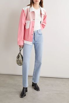 The Mighty Company - Veste en cuir The Beverley Simple Outfits, Cool Outfits, Casual Outfits, Fashion Outfits, Fashion Clothes, Beautiful Outfits, Women's Fashion, Cuir Rose, Leather Jacket Outfits