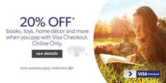 Chapters Canada: 20% Off Books, Home, Toys, & More with Visa Checkout Photo