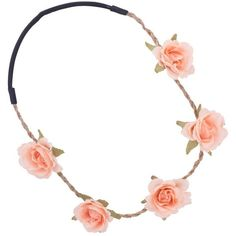 Festival Peach Flower Headband ($2.21) ❤ liked on Polyvore featuring accessories, hair accessories, jewelry, hair, headbands, women's jewellery, braided flower headband, flower headwrap, headband hair accessories and flower hair accessories