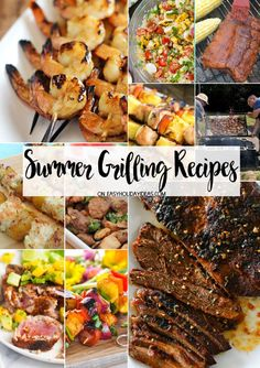 If you love a good backyard BBQ, then you don't want to miss these awesome Summer Grilling Recipes. From brisket & kebobs to grilled shrimp & grilled corn salads, there's something for everyone! Dinner Recipes Easy Quick, Easy Meat Recipes, Easy Meals, Cooking Recipes, Recipes Dinner, Grill Recipes, Barbecue Recipes, Cocktail Recipes, Dinner Ideas