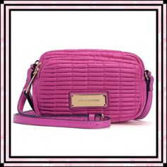 """🌺HPx2🌺 Juicy Couture Nouvelle Nylon Crossbody A quilted exterior lends a sophisticated touch to this sporty, stylish crossbody from Juicy Couture. This bag features two zippered compartments with a zipper pocket in the main compartment. Goldtone hardware with """"Juicy Couture"""" printed on the goldtone front plaque and """"JC"""" monogrammed on the zipper pulls. Measures 7""""L x 4""""H x 3""""D. NWT. Duchess Pink. Juicy Couture Bags Crossbody Bags"""