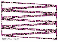 ArtbyJean - Paper Crafts - printables for making paper beads