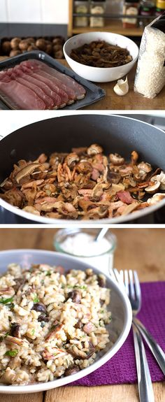 Bacon Mushroom Risotto - Erren's Kitchen #rice #delicious #recipe #Nomnom