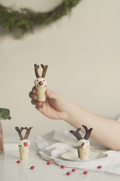 Rudolph the red nose reindeer ice cream cupcakes #minicups #bringJOYhome #holidays #recipes