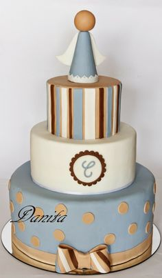 Bolo Cake, Torte Cake, Fondant Cakes, Cupcake Cakes, Religious Cakes, First Communion Cakes, Cake Decorating For Beginners, Fantasy Cake, Cake Pictures