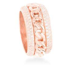 Surwa Ring Silver, White Zircon #LuxenterJoyas #LuxenterTimeToShine