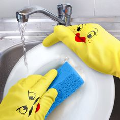 Gloves that have a sense of humor ($10). | 23 Gifts Only Clean Freaks Will Actually Appreciate