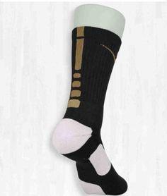 Nike Elite socks. Black and Gold