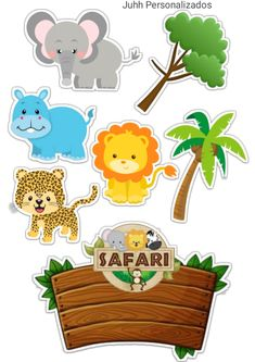 Jungle Safari Cake, Safari Birthday Cakes, Jungle Theme Cakes, Jungle Theme Birthday, Safari Cakes, Girl 2nd Birthday, Birthday Themes For Boys, Happy Birthday Cake Topper, Diy Birthday Decorations