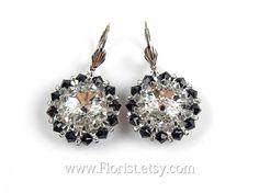 Swarovski Earrings Crystal Earrings Swarovski by JewelrybyFlorist