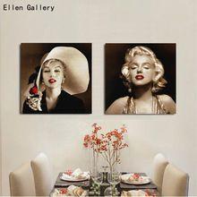 Marilyn Monroe Moderna Retratos Da Parede Para Sala de estar Pintura Da Lona Cuadros Decoração Home Decor Imagem Estrela de Cinema Sem Moldura(China (Mainland))