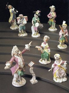 """""""Monkey Band"""" - Modeled by Johann Joachim Kandler and Peter Reinicke, 1765-66, German (Meissen), Hard-paste porcelain with enameling and gilding"""
