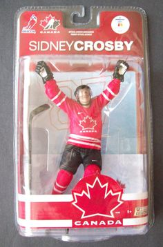 Sidney Crosby Hockey Team Canada Gold Olympics 2010 Figure Wearing a Red Jersey #McFarlaneToys