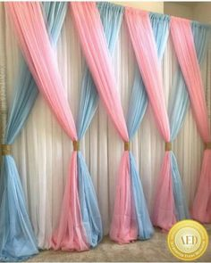 Beautiful Curtains Decorations for Birthday Parties - Baby Shower Party Decorations Party Kulissen, Party Favors, Party Ideas, Gift Ideas, Baby Party, Party Snacks, Shower Party, Party Games, 31 Ideas