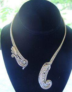 Margot De Taxco Sterling Silver 925 Collar Choker Necklace HTF #Margot