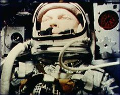 Image: John Glenn during flight of Friendship 7. NASA
