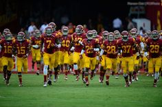 USC Football v Cal 2012 - #USCtrojans taking the Field