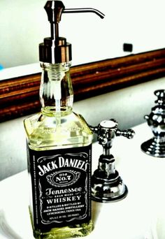 cute idea for a man cave bathroom or wet bar