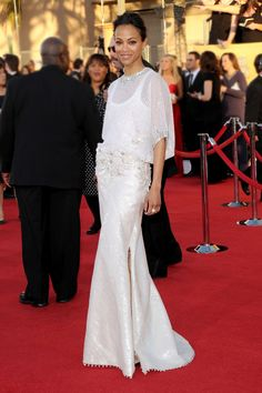 Zoe Saldana in Givenchy couture