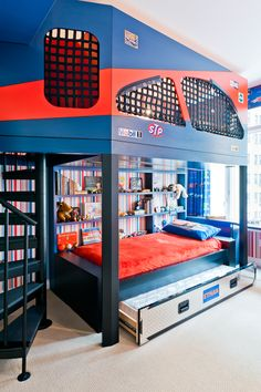 Boy's Bedroom, fun design, bold colors, Perianth Interior Design.