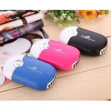 Portable Rechargeable Air Conditioner Cooler Mini Handheld Hand Desk USB Fan