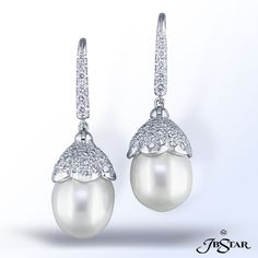 Pearl and Diamond Earrings from Alson Jewelers