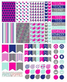 Hey, I found this really awesome Etsy listing at https://www.etsy.com/listing/239209260/73-girly-nautical-theme-stickers-planner