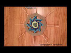 Tutorial mandala centro tibetano 4 Ojos de Dios - YouTube