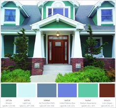 Exterior Paint Colors - You want a fresh new look for exterior of your home? Get inspired for your next exterior painting project with our color gallery. All About Best Home Exterior Paint Color Ideas Best Exterior Paint, Exterior Paint Colors For House, Modern Exterior, Exterior Doors, Exterior Design, Interior And Exterior, Ranch Exterior, Cottage Exterior, Exterior Remodel