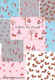A Walk in The Woods MODA Fabric Little Red by AllegroFabrics