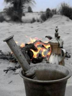 Coffee from the Desert of Tunisia, note the mortar and pestle grinder! That's what I call FRESH coffee!