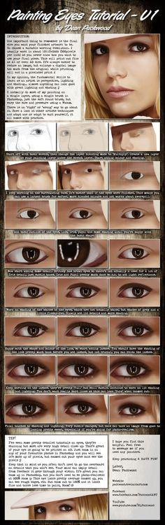 Eyes Tutorial - V1 by *Packwood on deviantART