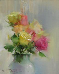 Розы(этюд с натуры)-50х40 х.м2010.