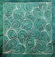 The Free Motion Quilting Project: Day 178 - Sleeping Seeds