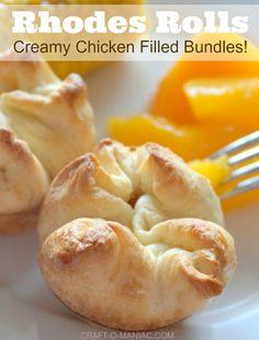Rhodes Rolls Creamy Chicken Filled Bundles
