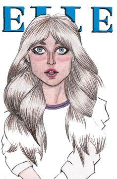 Ilustração, Capa da ELLE