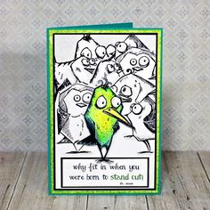 Crazy Bird Card - Scrapbook.com