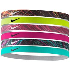 Nike 6-Pk. Active Mini Printed Headband Set ( 13) ❤ liked on Polyvore  featuring accessories 5901d67fb02