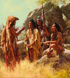 x 29 limited edition signed & numbered canvas (only 650 available) of two Native Americans with a bonnet case by artist Howard Terpning This print is signed and numbered and comes with a certificate of authenticity (COA). Native American Paintings, Native American Images, Native American Artists, American Indian Art, Native American Indians, Plains Indians, Navajo, Howard Terpning, Eskimo
