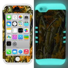 Oak Tree Branch Camouflage Camo w/ Glow in Dark Cover Case for Apple iPhone 5c - $14.99