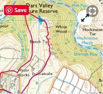 The route miles hours Easy-moderate Venford Reservoir walking route and map Dartmoor National Park, Walking Routes, Go Outdoors, 5 Hours, Walks, Your Dog, National Parks, Map, Dogs
