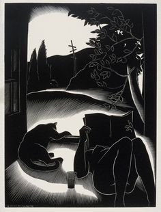 Paul Landacre Sultry Day - 1937 wood engraving
