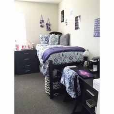 West Chester University Dorm Room 2017 2016 Blue White Grey And Purple