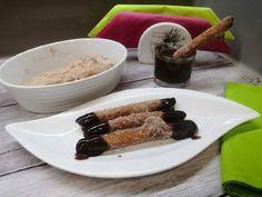 Glutén és tejmentes churros Churros, Gluten, Pudding, Food, Custard Pudding, Essen, Puddings, Meals, Yemek