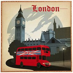 Express your love with all things London with this glossy print.