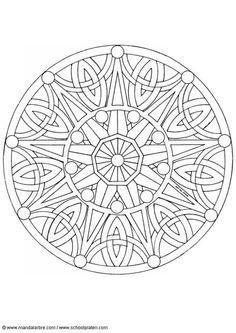 Kleurplaat mandala-1702b
